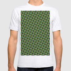 COLORFUL DOT Mens Fitted Tee Ash Grey SMALL