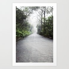 fog in the distance Art Print