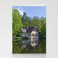 House at and in the water Stationery Cards