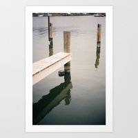 Boat Slip on Duvall Creek Art Print
