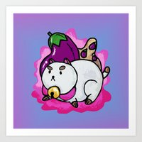 A Chubby Puppycat Art Print