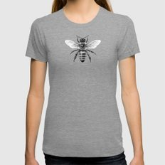 Bee Womens Fitted Tee Tri-Grey SMALL
