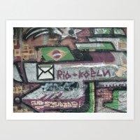 Rio Graffiti  Art Print
