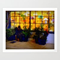 Lights in the Squares Art Print