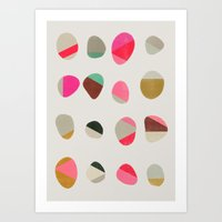 painted pebbles 1 Art Print