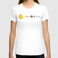 sun T-shirts featuring Solar System  by Terry Fan