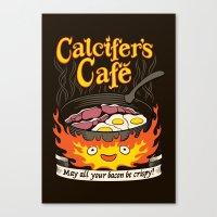 Calcifer's Cafe Canvas Print