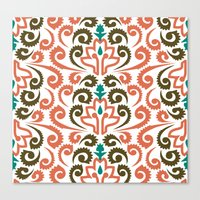 Moroccan Damask Canvas Print