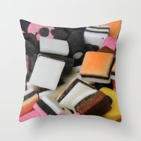 Sweets Candy Cases Throw Pillow