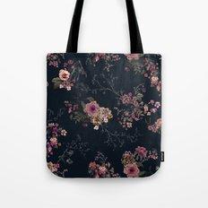 Japanese Boho Floral Tote Bag