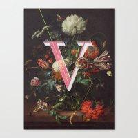 Letter V Canvas Print
