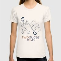 Two Dudes Moves Womens Fitted Tee Natural SMALL