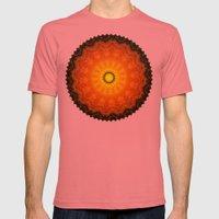 Velvet Sunflowers Motif … Mens Fitted Tee Pomegranate SMALL