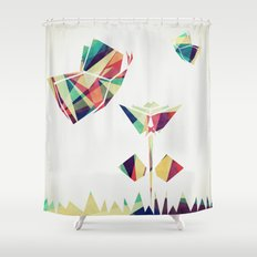Spring Illustration Shower Curtain