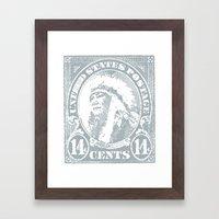 14¢ Warrior Framed Art Print