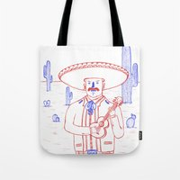 Mariachi In The Desert Tote Bag