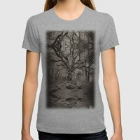 Old Oak Dark  Womens Fitted Tee Athletic Grey SMALL
