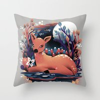 The Red Deer Throw Pillow