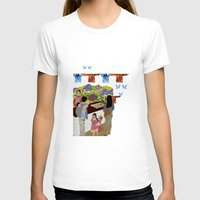 Happy Valley Flower Mark… Womens Fitted Tee White SMALL