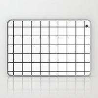 White Grid Laptop & iPad Skin