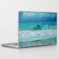 TURQUOISE WAVE Laptop & iPad Skin