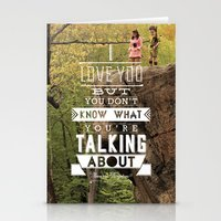 moonrise kingdom Stationery Cards featuring Moonrise Kingdom by Alan Betancourt