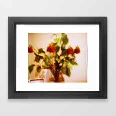 Death roses Framed Art Print