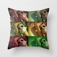 Strange Model Throw Pillow