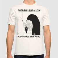 GOOD GIRLS VS RUDE GIRLS Mens Fitted Tee Natural SMALL