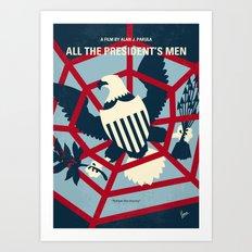 No678 My All the presidents Men minimal movie poster Art Print