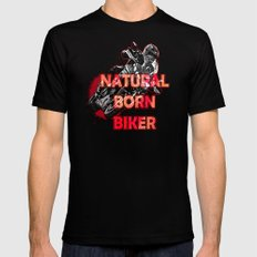 Natural Born Biker Mens Fitted Tee Black SMALL