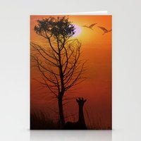 Sunset on the Plaines Stationery Cards