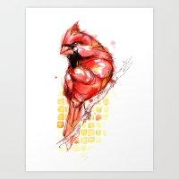 Cardinal Rule Art Print