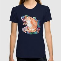 Zoi's Winter Nap Womens Fitted Tee Navy SMALL