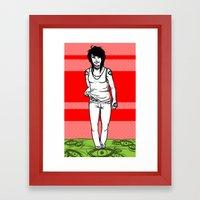 She Walks, We See Framed Art Print