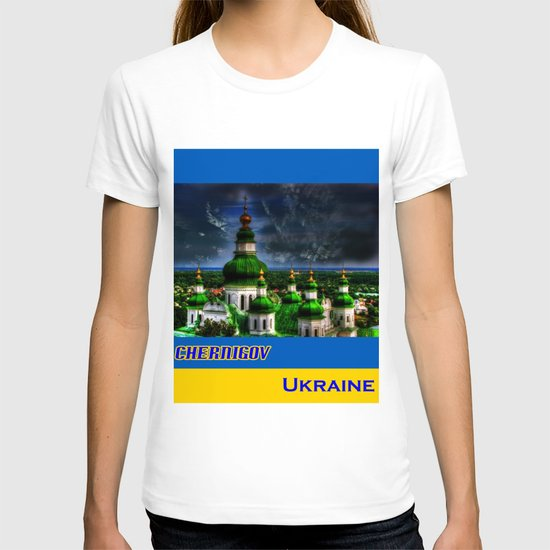 Domes of Trinity Cathedral, Chernigov, Ukraine T-shirt