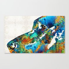 Colorful Dog Art - Lovin… Canvas Print