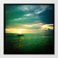 Balayan Bay Sunset Canvas Print