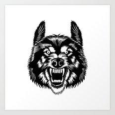Big Bad Wolf Art Print