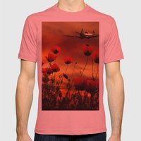 Fields Of Fire Mens Fitted Tee Pomegranate SMALL