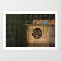 Hibou means owl Art Print