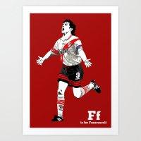 F Is For Francescoli Art Print