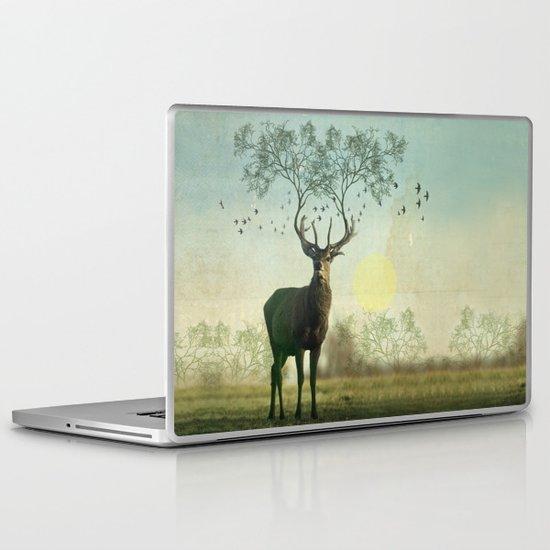 Evergreen Stage Horn Laptop & iPad Skin