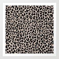 Tan Leopard Art Print