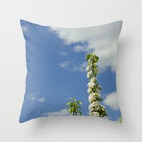 Pearl Clouds Throw Pillow