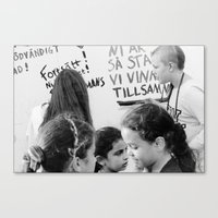 Continue, you are so strong... we will win this together Canvas Print