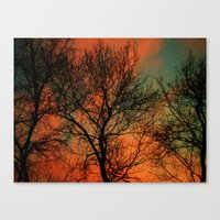 Vets Day Sunset Canvas Print