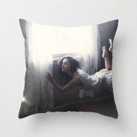 GLITTERED DREAMS Throw Pillow