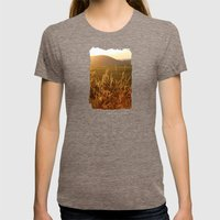 Gold Warm Light - JUSTAR… Womens Fitted Tee Tri-Coffee SMALL