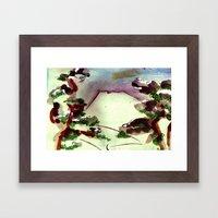 Japanese Mountain 2 Framed Art Print